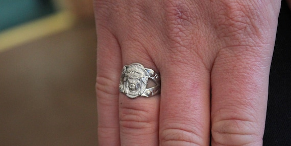 Old Indian Chief Ring - image 7