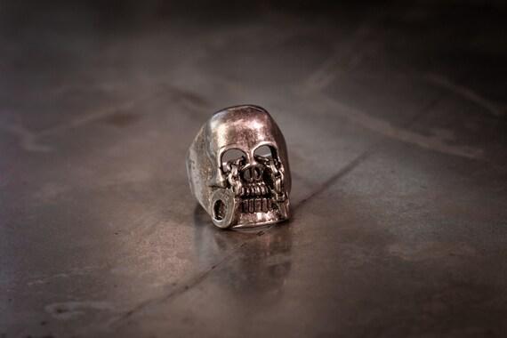 1980s Prisoner Skull Biker Ring Size-10
