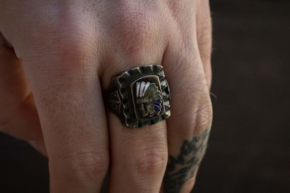 Indian Chief Mexican Biker Ring - image 7