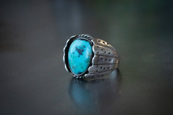 Old Pawn Sterling Silver Ring Size-12