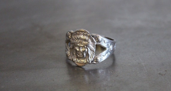 Old Indian Chief Ring - image 1