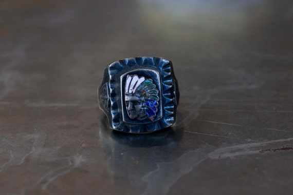 Indian Chief Mexican Biker Ring