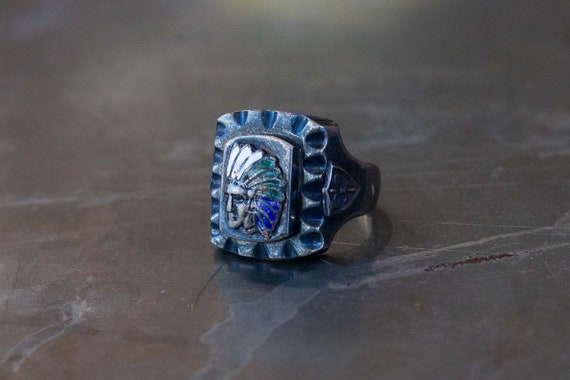 Indian Chief Mexican Biker Ring - image 6