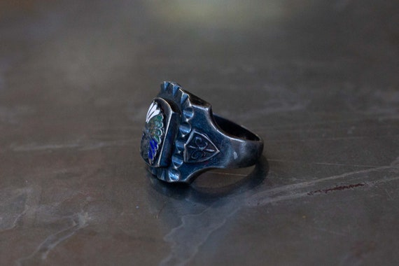 Indian Chief Mexican Biker Ring - image 5