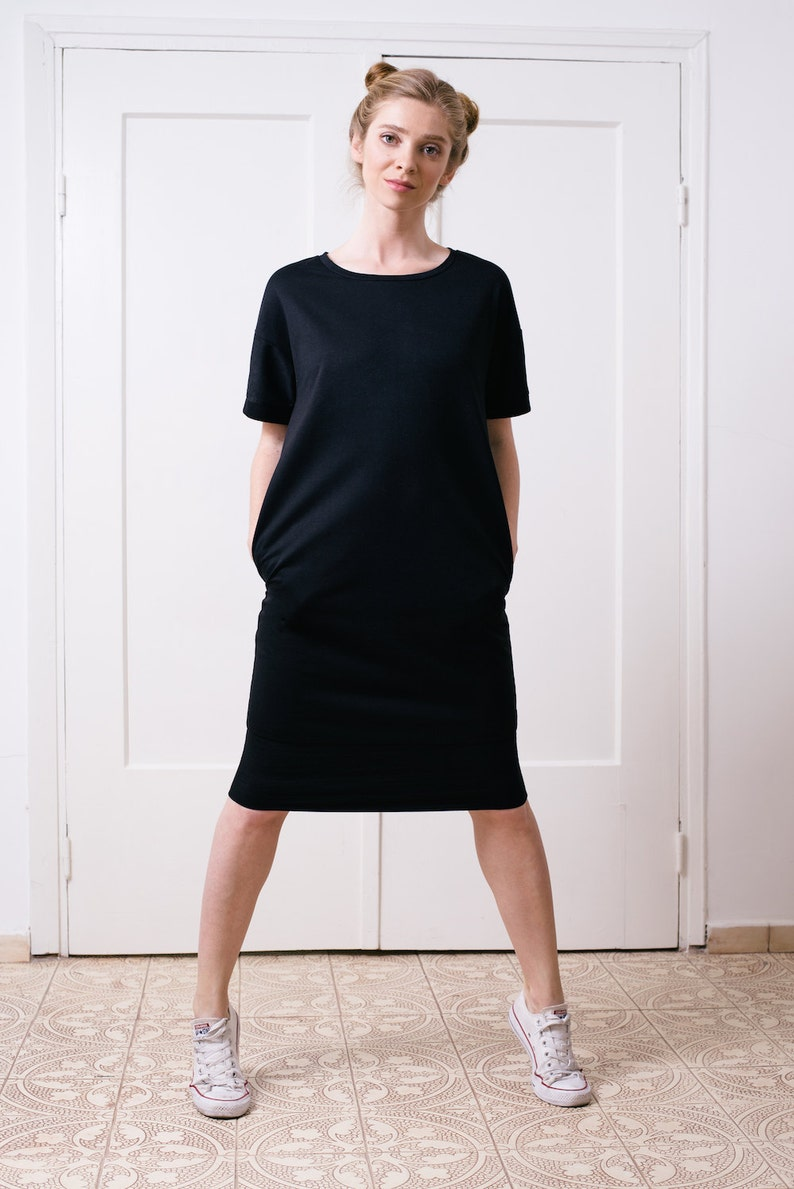 Shirtkleid Tunika Frauen Damen T Shirt Kleid Ok8n0pw Schwarzeetsy AR5Lqj34