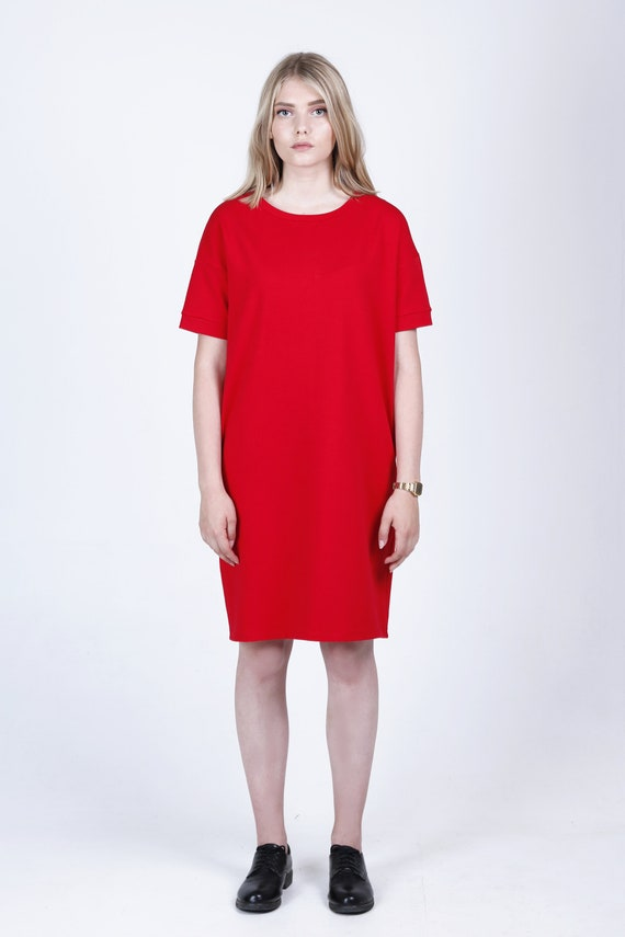 Red dress Tshirt dress Dress Women s dress Women s  f77eaf163e