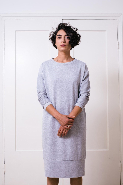 T Shirt Dress Tshirt Dress T Shirt Dress Grey Dress Etsy