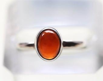 Garnet Ring/ Hessonite Garnet stacking Ring