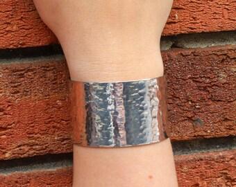 Wide silver bracelet, silver cuff bracelet, 40mm Wide solid silver cuff