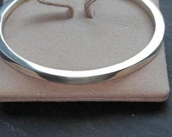 Solid Silver bangle, Heavy Silver bangle 3mm , Stacking bangle