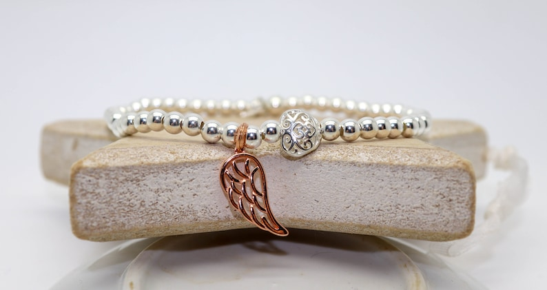 Angel bracelet Guardian Angel bracelet Silver bracelet image 0