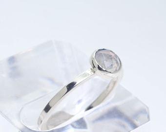 Rainbow Moonstone stacking ring