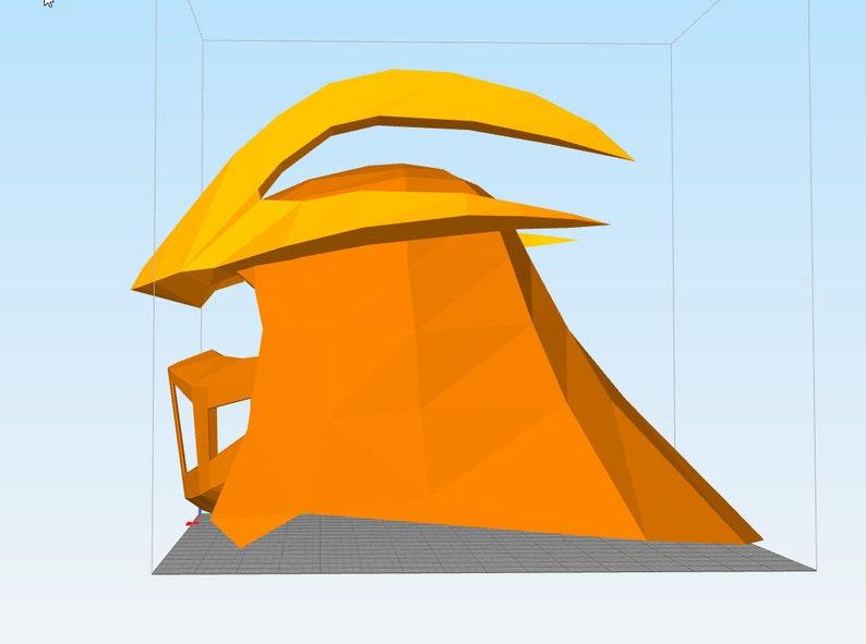 Shredder 1990 TMNT 3D printable wearable helmet