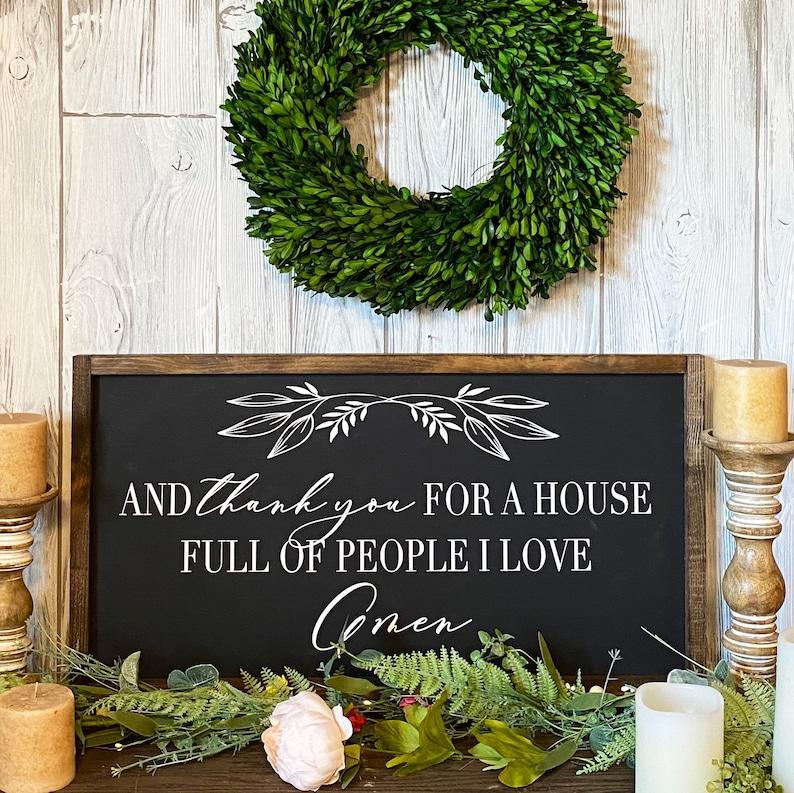 Scripture Sign farmhouse decor wood sign farmhouse Dining room sign farmhouse signs 24x14,| MORE COLORS /& SIZES