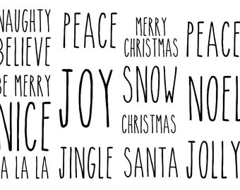 christmas words etsy