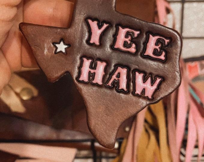Yea Haw Leather Keychains