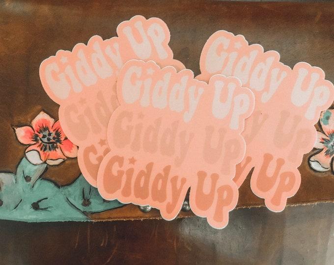 Giddy Up UV Sticker