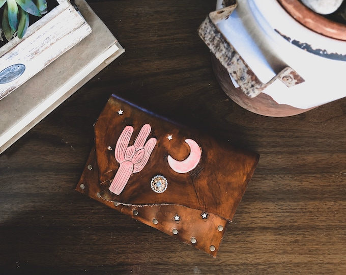 Hand Made Leather Wallet Clutch