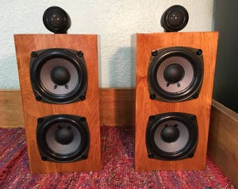 Poodlini Nautilus Monitors Handmade Bookshelf Speakers Custom Birch Plywood Phenomenal Accurate Audiophile Sound Quality Unique FREE Ship