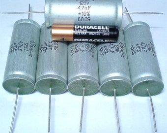 8C  1-PCS TVA-1304 Capacitor Sprague Atom 10uf 50V Tube Amp Made in USA