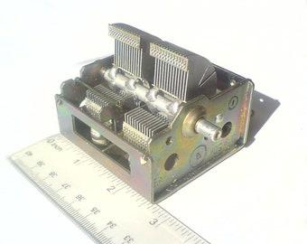 Vintage Russian Air Variable Capacitor 2x15-450pF HAM RADIO