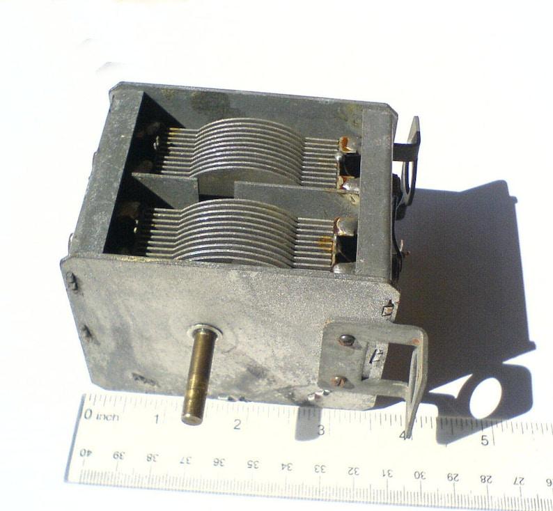 Vintage Russian Air Variable Capacitor 2x(15-450pF) HAM RADIO