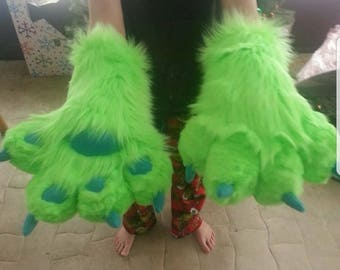 Green Fursuit Paws