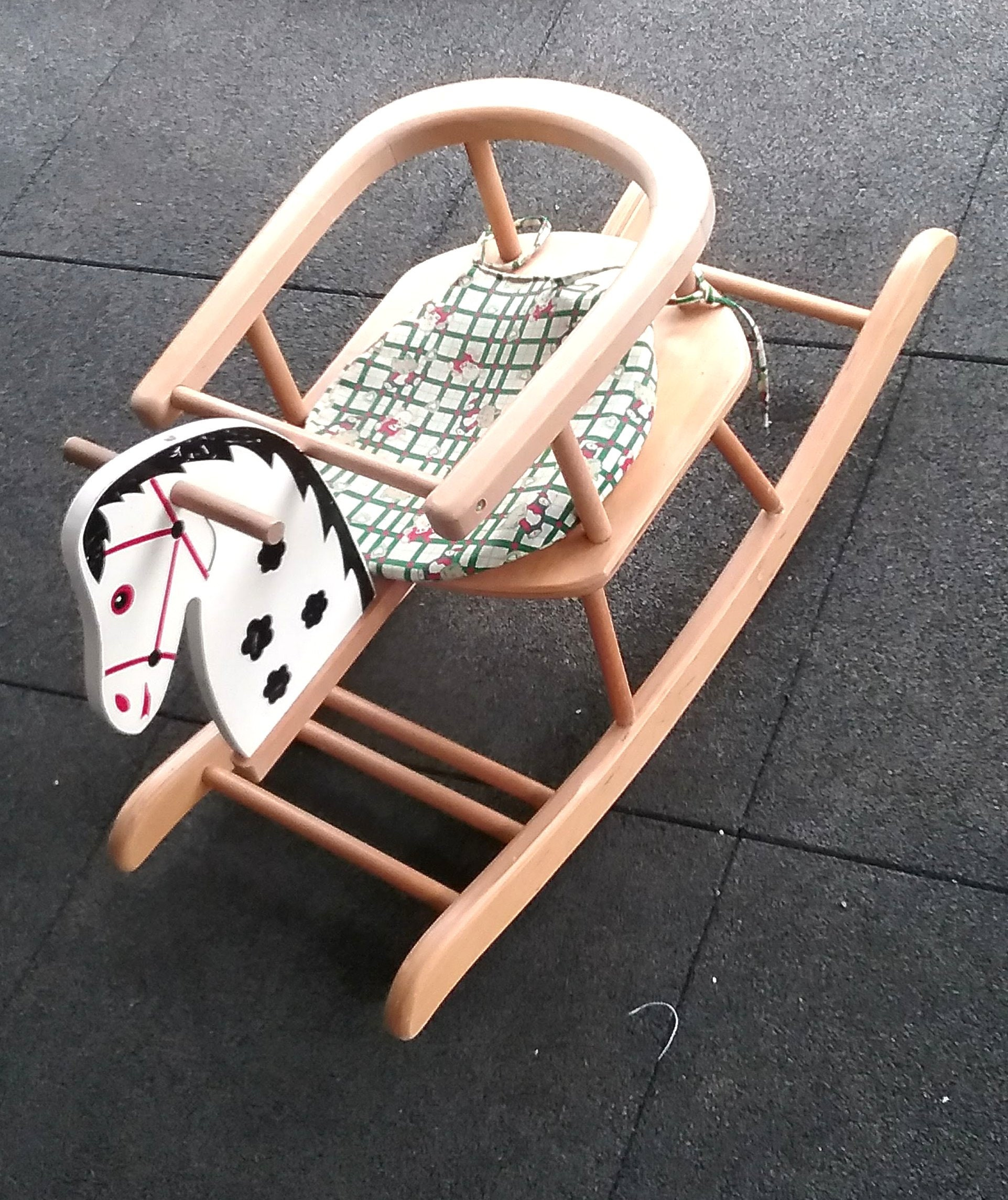 Pleasant Rocking Horse Made Of Wood Rocking Chair With Pillow Baby Andrewgaddart Wooden Chair Designs For Living Room Andrewgaddartcom