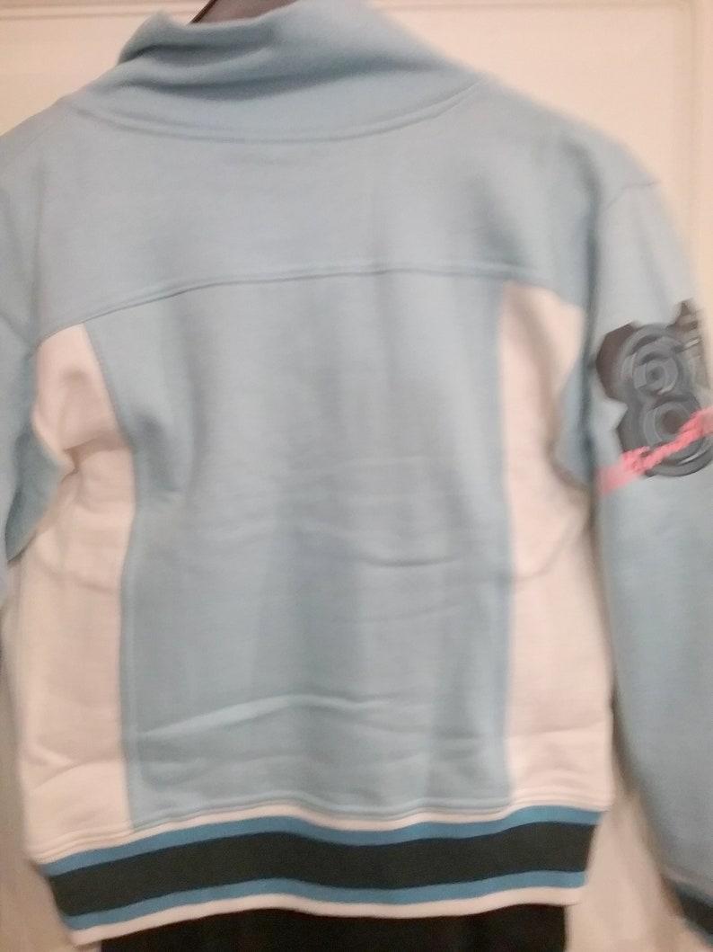 Winter Pink or Blue Size XXS 140- XS 152 Girl Print Sweat Jacket Snow Vintage Dimensions Cotton