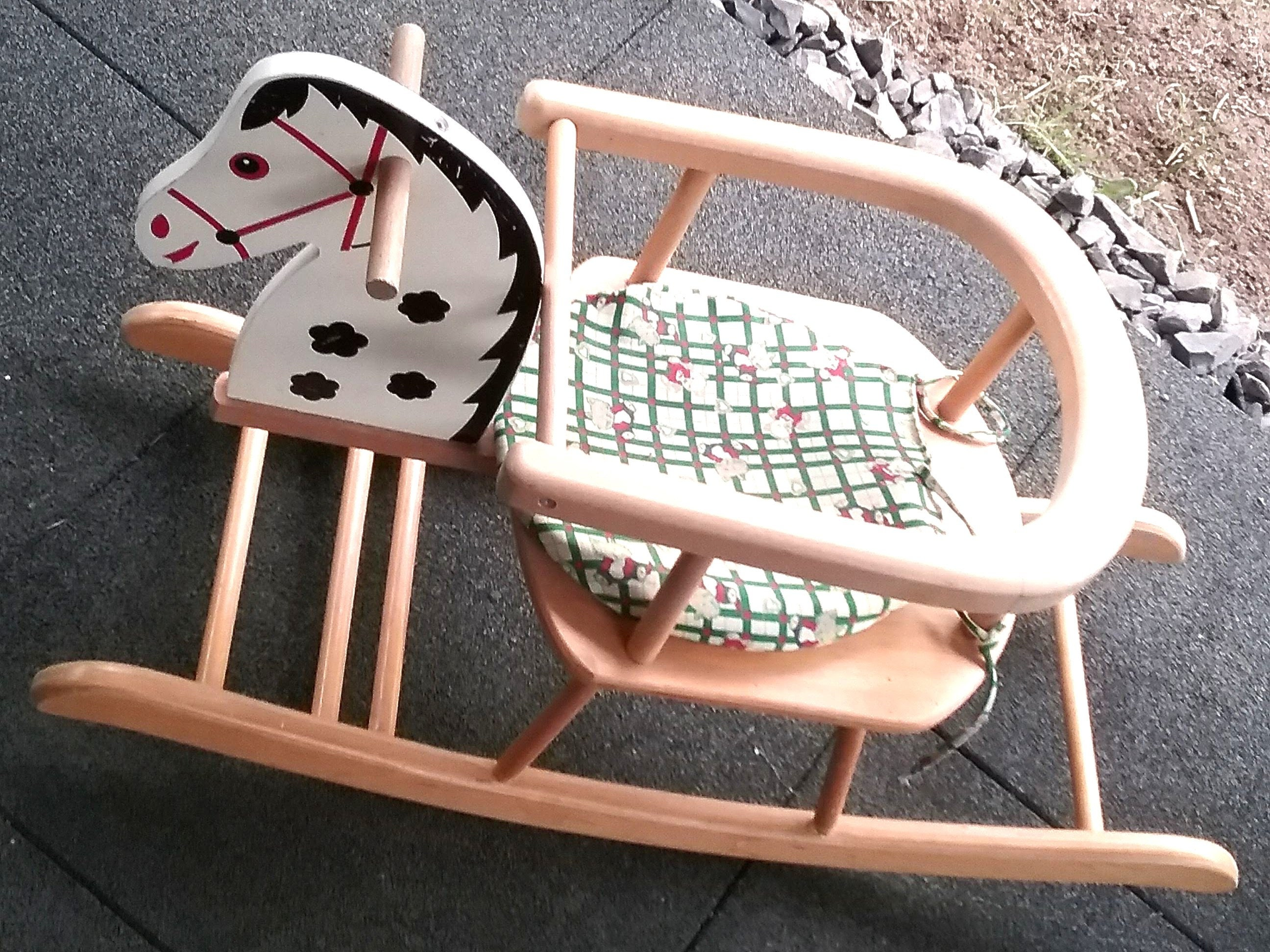 Brilliant Rocking Horse Made Of Wood Rocking Chair With Pillow Baby Andrewgaddart Wooden Chair Designs For Living Room Andrewgaddartcom