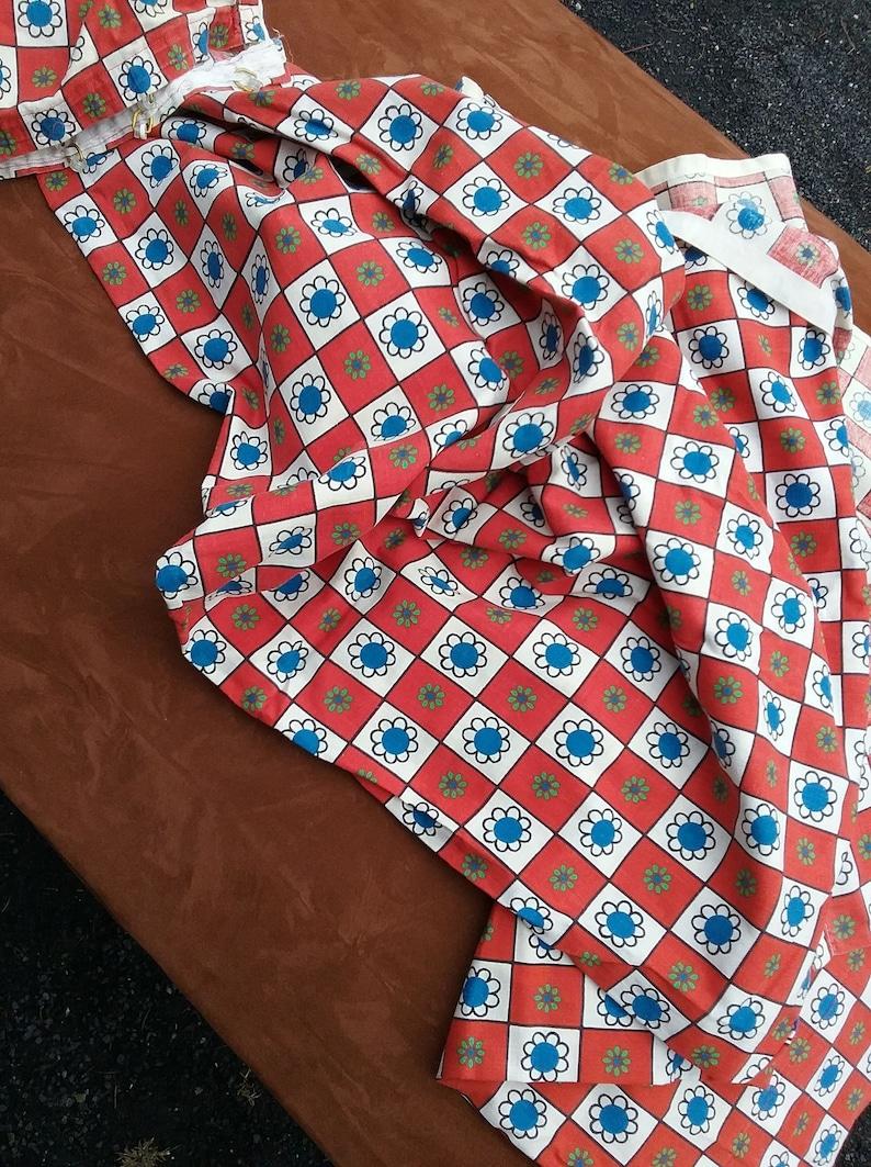 Supergardine curtain scarf refiner kitchen plaid floral pattern red-white-blue-green-green dekoplus easy to care for 40 degree vintage