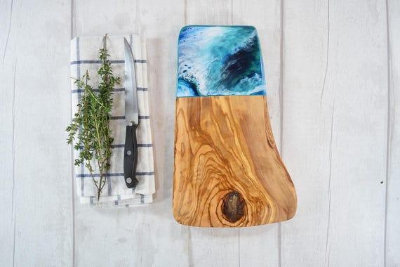 Artisan Olive Wood Cutting Board 30cm