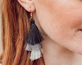 3 Tier tassle earrings