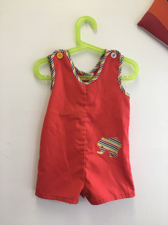 46dc9c468410 Kids 1970s Shorts Romper Vintage Healthtex Summer Playsuit