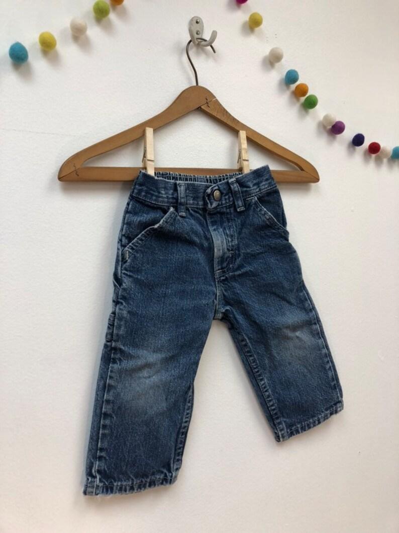 fe7159683 Kids 1980s Wrangler Jeans Vintage Baby Denim Elastic Waist | Etsy