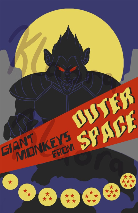 Giant Monkeys From Outer Space 11x17 Dragon Ball Z Parody Poster Print
