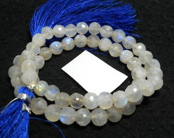 Natural Rainbow Moonstone Stone Beads 6 mm,12 inches,carat 92 faceted rainbow Gemstone Beads PCD 2189