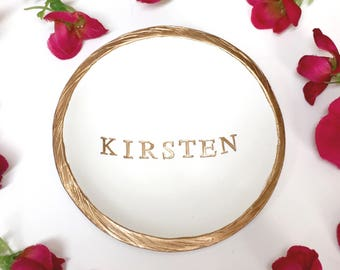 Personalized Ring Dish / Personalized Name Jewelry Dish / Personalized Jewelry Dish / Gift for Her / Bridesmaid Gift / Personalized Gift