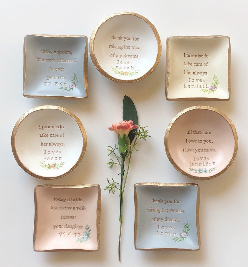 eeafb7949a1d4 Mother of the Groom Gift / Mother of the Bride Gift / Personalized Ring  Dish / Bridal Shower Gift / Gift for Mom / Mother In Law Gift