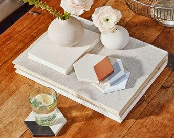 Tia Mowry X Etsy Hexagon Concrete Coasters - Set of Four