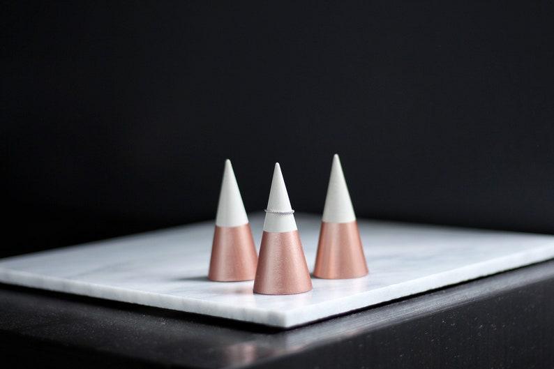 ROSE GOLD Concrete Ring Cone image 0