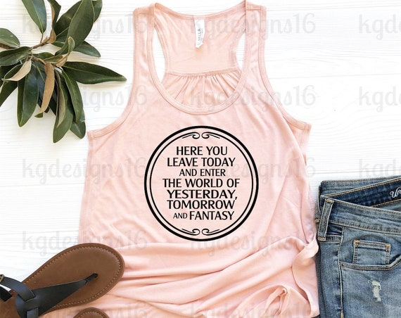 Main Street Entrance Welcome Sign Tank Top-Here You Leave Today Shirt-Vacation Shirt-Bella Canvas Flowy Tank Top-Loose Fit-30 Colors
