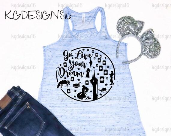 Tangled Tank Top-Best Day Ever Shirt-Rapunzel Shirt-Go Live Your Dream-Vacation Shirt-Bella Flowy Tank Top-Loose Fit-Women's Disney Shirt