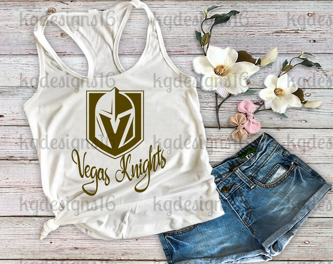 Golden Knights Tank Top-Golden Knights Shirt-Vegas Knights Tank Top-Womans Fitness Tank Top-Hockey Tank Top-Workout Tank-Bella Canvas Flowy