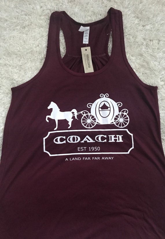 Cinderella Coach Tank Top-Ships SAME DAY-Cinderella Carriage Shirt-Vacation Shirt-Bella Canvas Flowy Tank Top-Loose Fit-Women's Disney Shirt