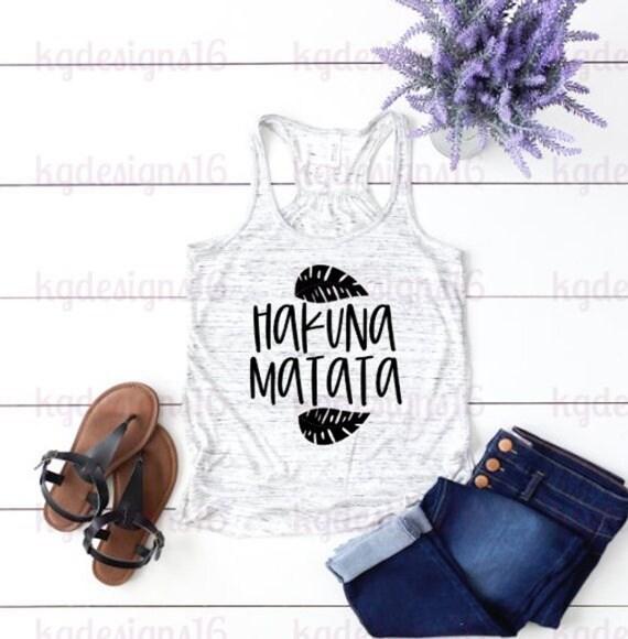 Hakuna Matata Tank Top-Lion King Shirt-Vacation Shirt-Bella Canvas Flowy Tank Top-Loose Fit