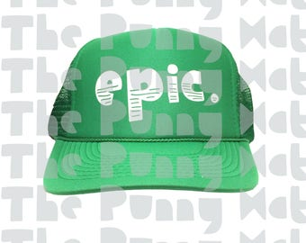 9cf461de3fec3 Epic trucker hat   Etsy
