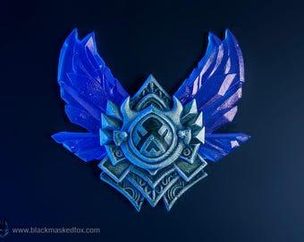Diamond Badge, LoL - hand painted