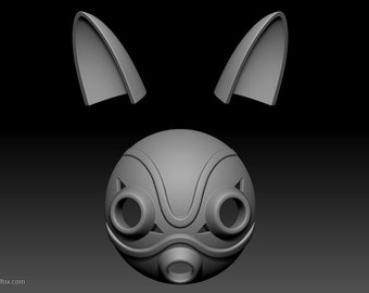 Mask and Ears, 3D Model file, for 3d printing