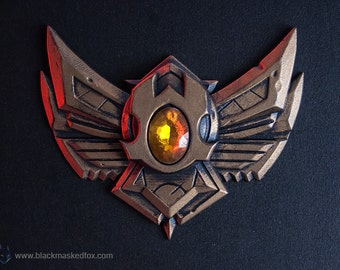Bronze Badge, LoL - hand painted with gemstone
